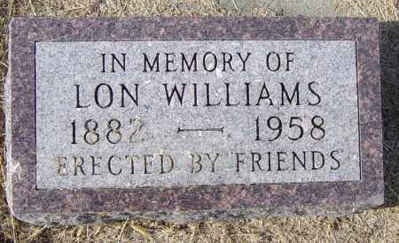 WILLIAMS, LON - Lincoln County, South Dakota | LON WILLIAMS - South Dakota Gravestone Photos