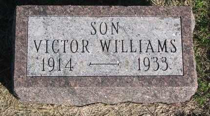 WILLIAMS, VICTOR - Lincoln County, South Dakota | VICTOR WILLIAMS - South Dakota Gravestone Photos