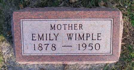 WIMPLE, EMILY - Lincoln County, South Dakota | EMILY WIMPLE - South Dakota Gravestone Photos