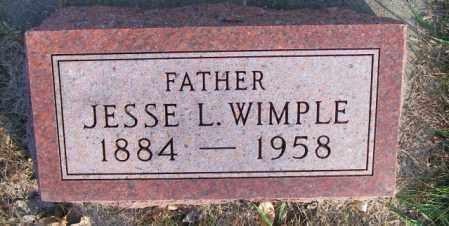 WIMPLE, JESSE L. - Lincoln County, South Dakota   JESSE L. WIMPLE - South Dakota Gravestone Photos