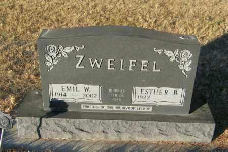 ZWEIFEL, EMIL W - Lincoln County, South Dakota | EMIL W ZWEIFEL - South Dakota Gravestone Photos