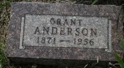 ANDERSON, GRANT - Lyman County, South Dakota | GRANT ANDERSON - South Dakota Gravestone Photos