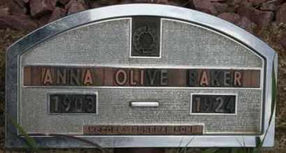 BAKER, ANNA OLIVE - Lyman County, South Dakota | ANNA OLIVE BAKER - South Dakota Gravestone Photos