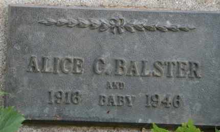 BALSTER, ALICE C - Lyman County, South Dakota | ALICE C BALSTER - South Dakota Gravestone Photos
