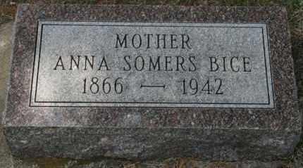 SOMERS BICE, ANNA - Lyman County, South Dakota | ANNA SOMERS BICE - South Dakota Gravestone Photos