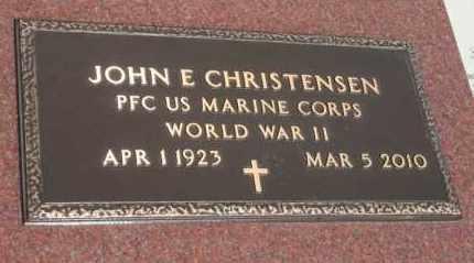 CHRISTENSEN, JONH E (WW II) - Lyman County, South Dakota | JONH E (WW II) CHRISTENSEN - South Dakota Gravestone Photos