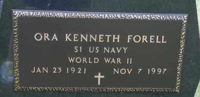 FORELL, ORA KENNETH - Lyman County, South Dakota   ORA KENNETH FORELL - South Dakota Gravestone Photos