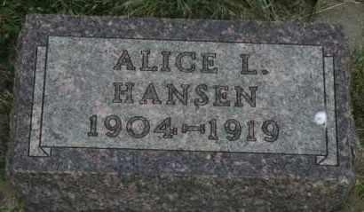 HANSEN, ALICE L - Lyman County, South Dakota | ALICE L HANSEN - South Dakota Gravestone Photos