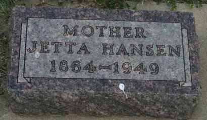 HANSEN, JETTA - Lyman County, South Dakota   JETTA HANSEN - South Dakota Gravestone Photos