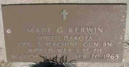 KERWIN, MATT G. - Lyman County, South Dakota   MATT G. KERWIN - South Dakota Gravestone Photos