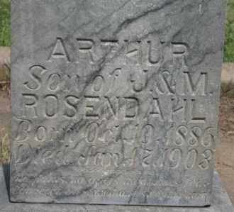 ROSENDAHL, ARTHUR - Lyman County, South Dakota | ARTHUR ROSENDAHL - South Dakota Gravestone Photos