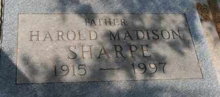 SHARPE, HAROLD MADISON - Lyman County, South Dakota   HAROLD MADISON SHARPE - South Dakota Gravestone Photos