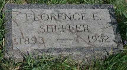 SHEFFER, FLORENCE E - Lyman County, South Dakota   FLORENCE E SHEFFER - South Dakota Gravestone Photos