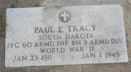 TRACY, PAUL E. - Lyman County, South Dakota | PAUL E. TRACY - South Dakota Gravestone Photos