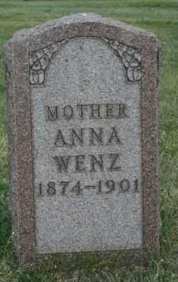 WENZ, ANNA - Lyman County, South Dakota | ANNA WENZ - South Dakota Gravestone Photos
