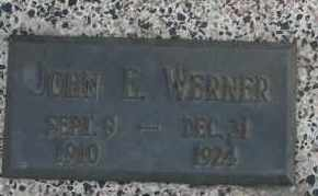 WERNER, JOHN E - Lyman County, South Dakota | JOHN E WERNER - South Dakota Gravestone Photos
