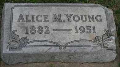 YOUNG, ALICE M - Lyman County, South Dakota | ALICE M YOUNG - South Dakota Gravestone Photos