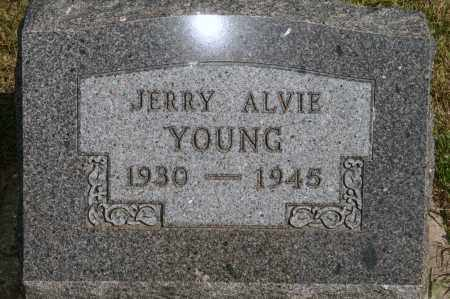 YOUNG, JERRY ALVIE - Lyman County, South Dakota   JERRY ALVIE YOUNG - South Dakota Gravestone Photos