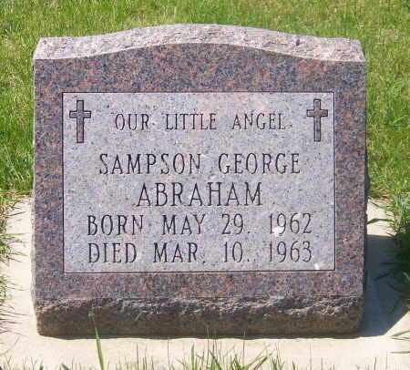 ABRAHAM, SAMPSON GEORGE - Marshall County, South Dakota | SAMPSON GEORGE ABRAHAM - South Dakota Gravestone Photos
