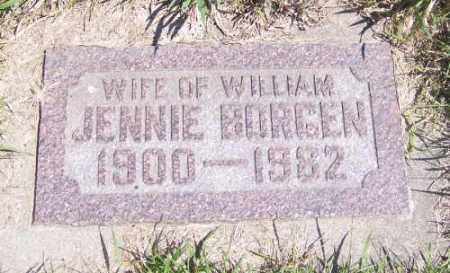 BORGEN, JENNIE - Marshall County, South Dakota   JENNIE BORGEN - South Dakota Gravestone Photos