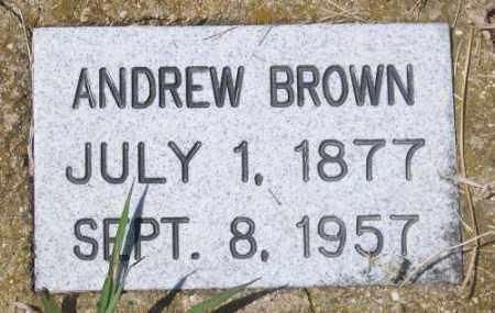 BROWN, ANDREW - Marshall County, South Dakota   ANDREW BROWN - South Dakota Gravestone Photos