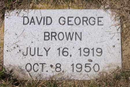 BROWN, DAVID GEORGE - Marshall County, South Dakota | DAVID GEORGE BROWN - South Dakota Gravestone Photos