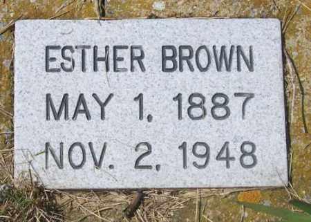 BROWN, ESTHER - Marshall County, South Dakota   ESTHER BROWN - South Dakota Gravestone Photos