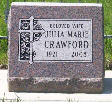 CRAWFORD, JULIA MARIE - Marshall County, South Dakota | JULIA MARIE CRAWFORD - South Dakota Gravestone Photos