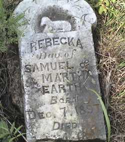 EARTH, REBECKA - Marshall County, South Dakota   REBECKA EARTH - South Dakota Gravestone Photos