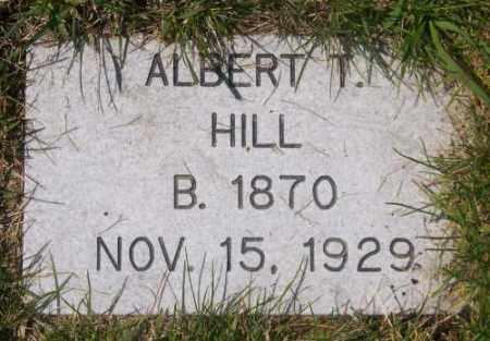 HILL, ALBERT T. - Marshall County, South Dakota | ALBERT T. HILL - South Dakota Gravestone Photos