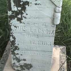 LACROIX, LOUIS - Marshall County, South Dakota   LOUIS LACROIX - South Dakota Gravestone Photos