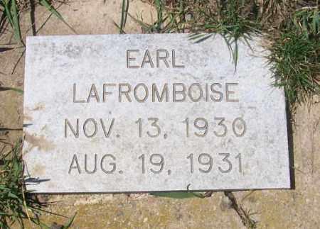 LAFROMBOISE, EARL - Marshall County, South Dakota | EARL LAFROMBOISE - South Dakota Gravestone Photos