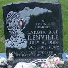 RENVILLE, LAKOTA RAE - Marshall County, South Dakota   LAKOTA RAE RENVILLE - South Dakota Gravestone Photos