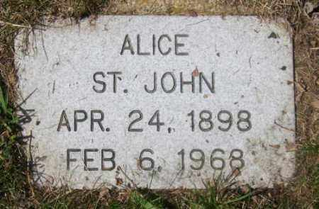 ST. JOHN, ALICE - Marshall County, South Dakota | ALICE ST. JOHN - South Dakota Gravestone Photos
