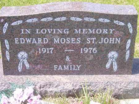 ST. JOHN, EDWARD MOSES - Marshall County, South Dakota | EDWARD MOSES ST. JOHN - South Dakota Gravestone Photos