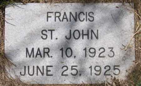 ST. JOHN, FRANCIS - Marshall County, South Dakota   FRANCIS ST. JOHN - South Dakota Gravestone Photos