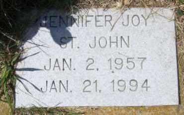 ST. JOHN, JENNIFER JOY - Marshall County, South Dakota   JENNIFER JOY ST. JOHN - South Dakota Gravestone Photos