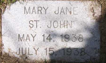 ST. JOHN, MARY JANE - Marshall County, South Dakota | MARY JANE ST. JOHN - South Dakota Gravestone Photos