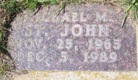 ST. JOHN, MICHAEL M. - Marshall County, South Dakota   MICHAEL M. ST. JOHN - South Dakota Gravestone Photos