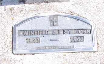 ST. JOHN, WINFIELD J. - Marshall County, South Dakota   WINFIELD J. ST. JOHN - South Dakota Gravestone Photos