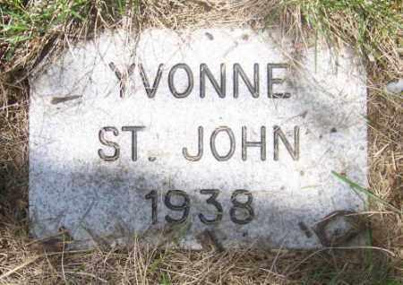 ST. JOHN, YVONNE - Marshall County, South Dakota | YVONNE ST. JOHN - South Dakota Gravestone Photos