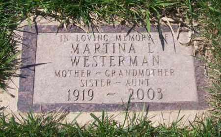 WESTERMAN, MARTINA L. - Marshall County, South Dakota | MARTINA L. WESTERMAN - South Dakota Gravestone Photos