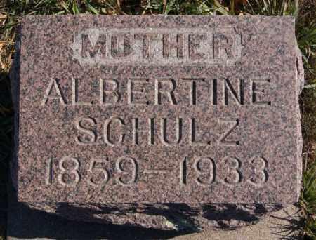 SCHULZ, ALBERTINE - McCook County, South Dakota   ALBERTINE SCHULZ - South Dakota Gravestone Photos