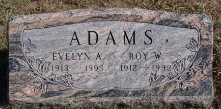 ADAMS, EVELYN A - McCook County, South Dakota | EVELYN A ADAMS - South Dakota Gravestone Photos