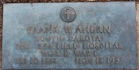 AHERN, FRANK W (WWI) - McCook County, South Dakota | FRANK W (WWI) AHERN - South Dakota Gravestone Photos