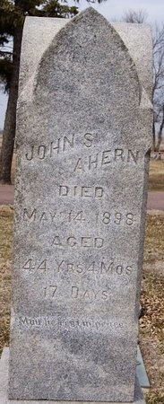 AHERN, JOHN S - McCook County, South Dakota   JOHN S AHERN - South Dakota Gravestone Photos
