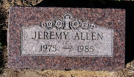 ALLEN, JEREMY - McCook County, South Dakota | JEREMY ALLEN - South Dakota Gravestone Photos