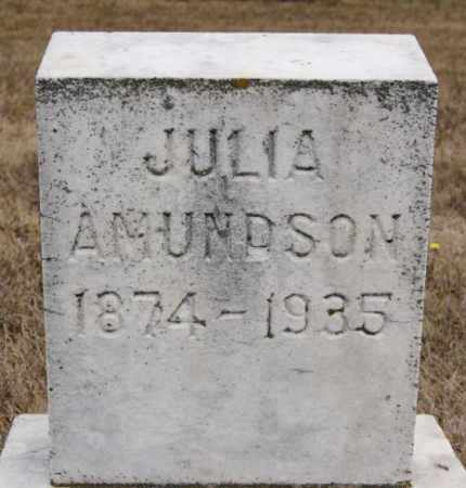 AMUNDSON, JULIA - McCook County, South Dakota | JULIA AMUNDSON - South Dakota Gravestone Photos