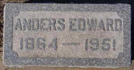 ANDERSON, ANDERS EDWARD - McCook County, South Dakota   ANDERS EDWARD ANDERSON - South Dakota Gravestone Photos