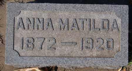 ANDERSON, ANNA MATILDA - McCook County, South Dakota | ANNA MATILDA ANDERSON - South Dakota Gravestone Photos